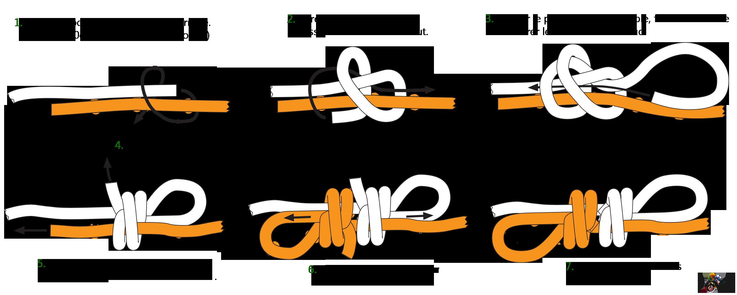 different nœud de corde